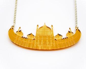 SAMPLE SALE - Gold Pavilion Necklace