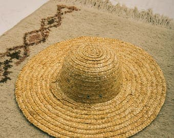 vintage oversized straw hat | the mai tai hat