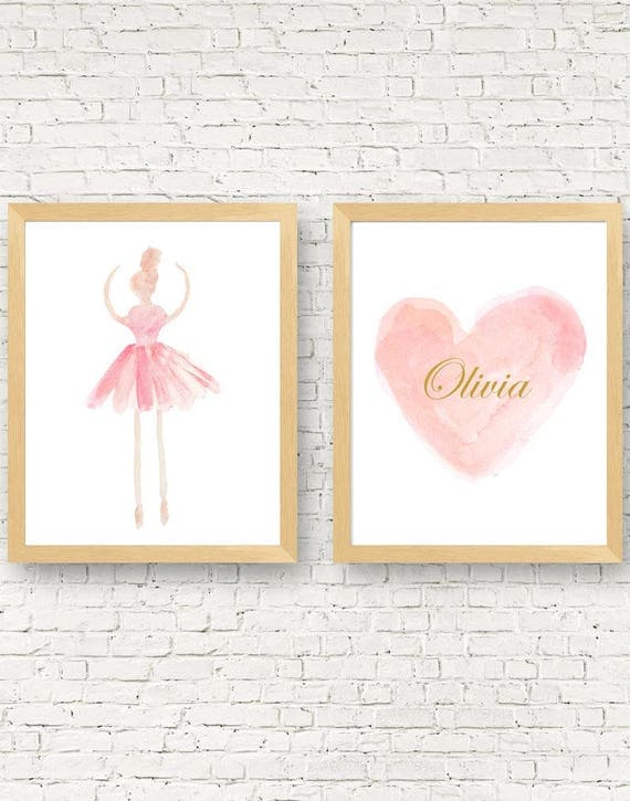 Ballerina Gift, Set of 2-11x14 Dance Prints
