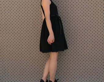 End of series! Cotton black size 44 Daisy dress