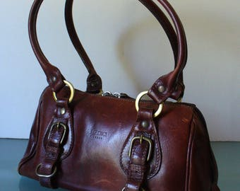 I Medici Made in Italy Chestnut Brown Leather Doctor Style Bag