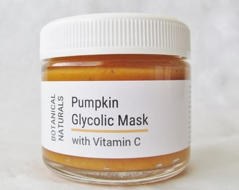 Pumpkin Glycolic Face Mask, Exfoliating Enzyme Facial Mask, Vitamin C