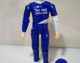 Vintage Nascar Racing Superstars Bill Elliott Action Figure #9 Melling, Racing Champions, 1991