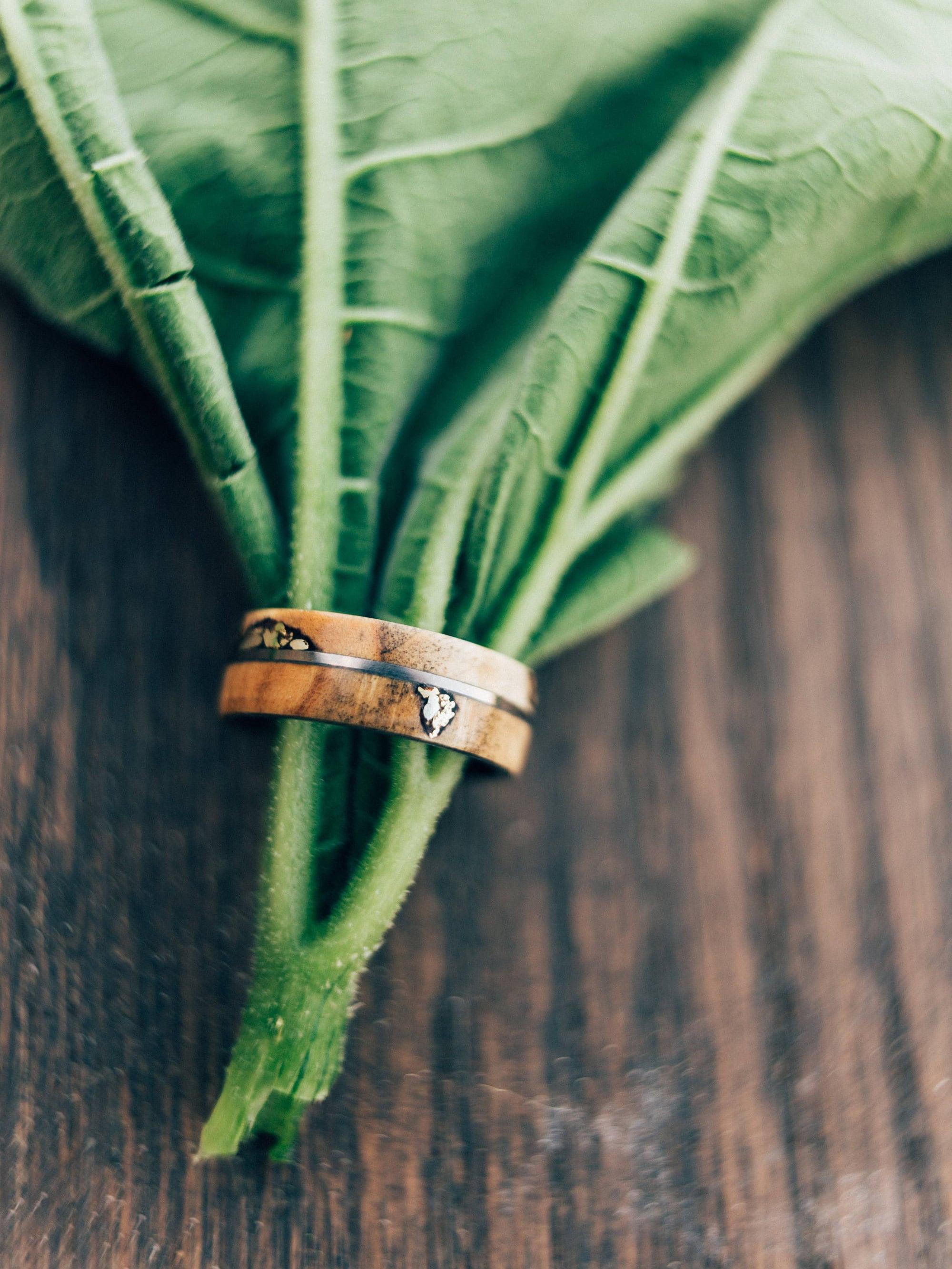Elegant Wedding Rings Wood Green