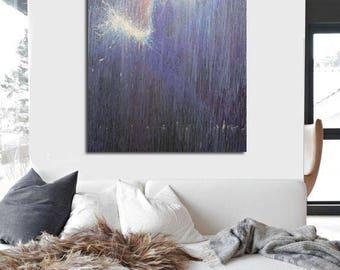 Large Wall Art Canvas Print, Abstract Contemporary Wall Art Print of Ballerina, Dancer Gift, Giclee Print Modern Art
