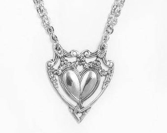 """Spoon Necklace: """"Marquis Heart"""" by Silver Spoon Jewelry"""