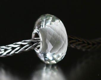 Green amethyst faceted semi-precious gemstone 12-47