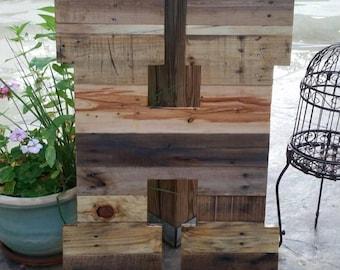 """Giant wooden letter, 32"""" reclaimed wood letter, 32"""" pallet letter, large, huge, rustic wood letter, wedding letter, rustic home decor"""