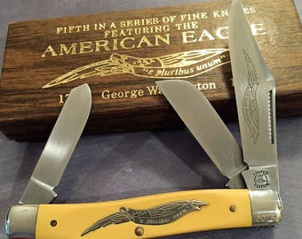 Parker Schrade Cutlery 1976 Issue of the 5th in American Eagle Series of Limited Edition pocket knives this one honors George Washington