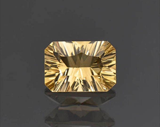 UPRISING SALE! Nice Concave Cut Yellow Citrine Gemstone from Bolivia 2.57 cts.