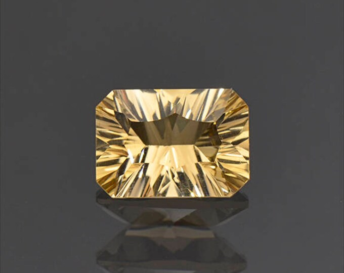 SALE EVENT! Nice Concave Cut Yellow Citrine Gemstone from Bolivia 2.57 cts.