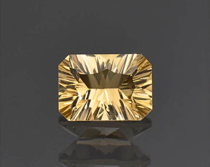 Nice Concave Cut Yellow Citrine Gemstone from Bolivia 2.57 cts.