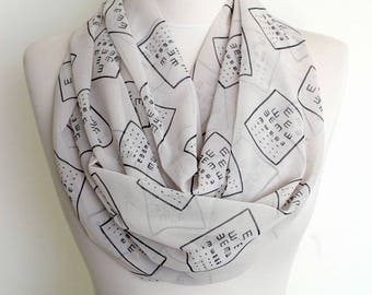 Eye Test Infinity Scarf Circle Scarf Scarves Spring Fall Winter Summer Fashion Gift fo her