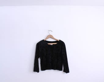 Crushed Velvet Witchy Crop Top