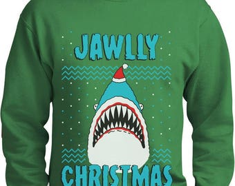 Jawlly Christmas Ugly Christmas Sweater For Xmas Party Shark Sweatshirt