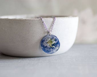 Earth necklace. In gift box. Made in UK.