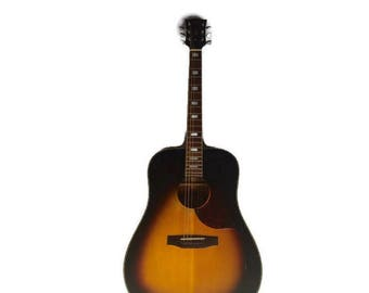 Iconic Vintage 1960s Gibson Acoustic SJ Deluxe Sunburst Guitar Southern Jumbo All Original **Will Need Repairs** Rock N Roll 1966 Guitar