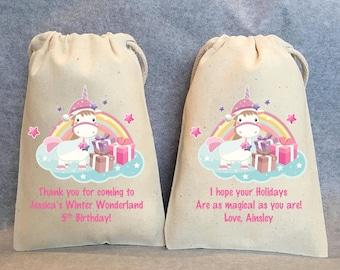 "10- Unicorn Party, Christmas gift bag, unicorn party, Unicorn Birthday, unicorn party favors, Unicorn bags, Unicorn party favor bags, 4""x6"""