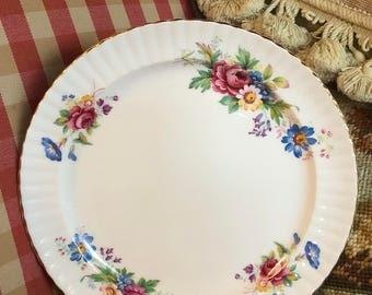 Royal Windsor Wildflower Roses Dessert or salad plate