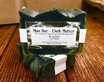 Dark Matter Man Bar, All Natural Vegan Soap