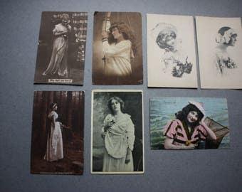 Antique Postcards (Seven) of Women