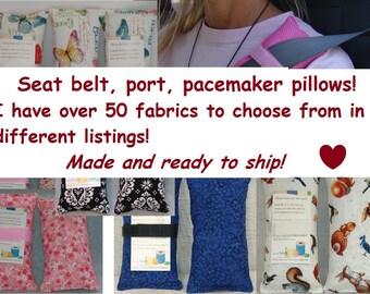 Port Pillow, Porta pillow, Port-a-Cath pillow, seat belt cushion, Chemo Port, Breast Cancer pillow, Green, Portacath Pillows