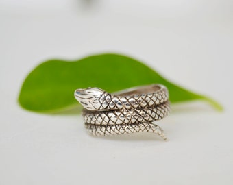 snake ring 925 sterling silver, snake jewelry, snake, reptile jewelry,talla 12