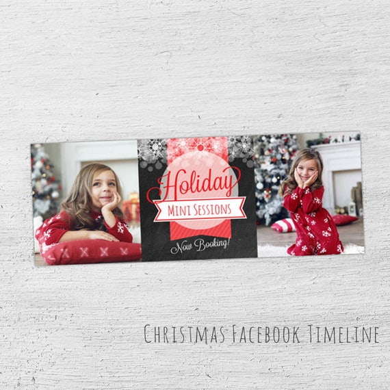 Holiday Facebook Timeline Photoshop Template Facebook Template