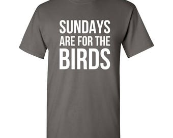 Sundays Are For The Birds T Shirt - Charcoal