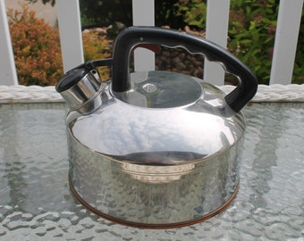 Tea Kettle with Copper Bottom from West Bend - Singing Tea Kettle
