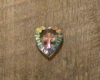 Crystal Heart Cross Pendant - Made in Germany