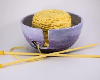 Ceramic Yarn Bowl--Made to Order, Handmade Yarn Bowl, Ceramic Yarn Bowl, Pretty Yarn Bowl, Yarn Organizer, Knitters Bowl, Yarn Storage