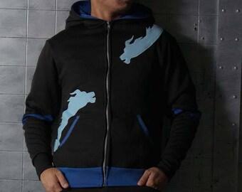 Hanzo Dragonstrike Overwatch Cosplay Costume Hoodie Jacket