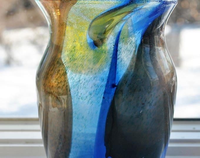 Johansfors Spontana Glass Vase Vintage Mid Century Modern Bengt Orup