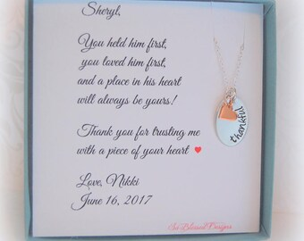 Mother of the Groom necklace, Mother of the Bride necklace, mother in law, wedding gifts, Gift to mother in law from bride