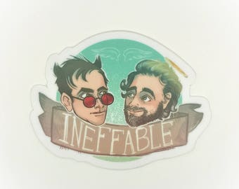 Ineffable Crowley and Aziraphale - Good Omens - Sticker