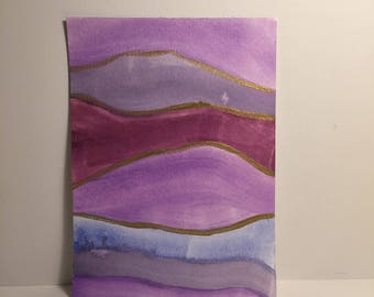 Violet and Magenta Layered