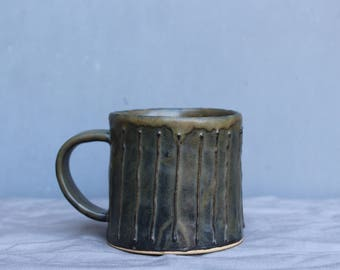 Ceramic Mug. Handmade Mug. Coffee Mug. Tea Mug. Dark Brown Mug.