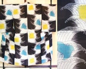 Summer sha kimono with bi...