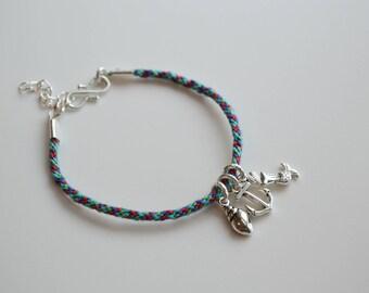 Little Mermaid Disney Inspired Charm and Friendship Bracelet