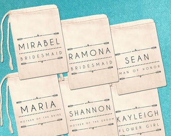 Custom Bridesmaid Bags, Bridal Party Favor Bags, Personalized Wedding Party Gift Bags, Canvas Favor Bags, Bridesmaid Ask Gift Bag