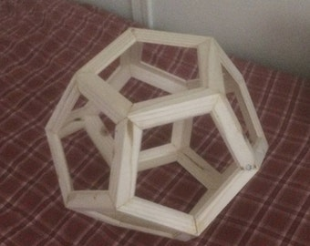 Handcrafted wooden dodecahedron