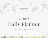 2018 Daily Planner | Six-Month Planner, 2018 Diary, Daily Agenda, Appointment Book, Academic Planner, Style No. JUL18/PPF