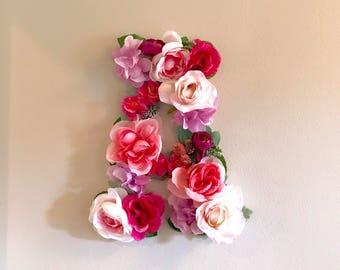 Floral Letter, Flower Letter, Nursery Wall Decor