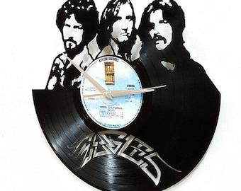 Eagles Vinyl Wall Art -Vinyl LP Record Clock or Framed Vinyl-Great Eagles Gift ,Vinyl Wall Clock,Wall records clock