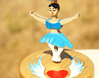 Angelic magnetic dancer- Magnet toy- spin toy- Ballerina dancing with wind in a magnetic field- ballet gift desk accessory- Hand Made gift