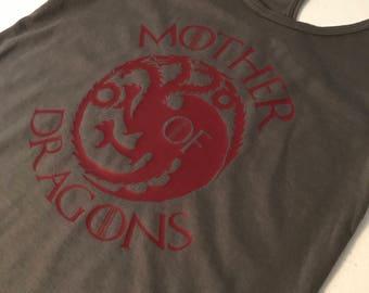 Game of Thrones MOTHER OF DRAGONS Racerback Tank - Daenerys Targaryen Khaleesi Top - Gift for Mom