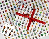 Pixel Hero Wrapping Paper, Gift Wrap  & Tags Set, Marvel Birthday, Avengers Giftwrap Pack, Holiday Gift Wrapping, Batman, Star Wars TMNT