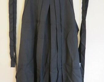 HAKAMA Japanese Vintage Silk Karate Andon Hakama, Woven Stripe Silk Genuine Vintage Japanese Kimono Karate Pants Skirt Style Andon Hakama