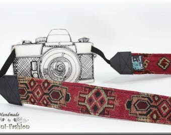 Camera strap, camerastrap, DSLR, red